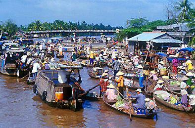 Cai Rang Floating Market,Mekong Tour 2 Days,Mekong Delta Tour 2 Days,Mekong River Tours